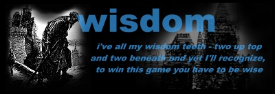 the game of wisdom